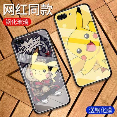 苹果11手机壳女iphonex玻璃7plus网红xr皮卡丘8p可爱6保护套xsmax