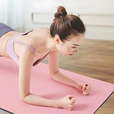 爆款瑜伽垫子初学者防滑加宽加厚无味TPE环保垫健身垫儿童舞蹈垫