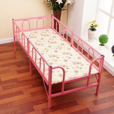 新款儿童床带护栏折叠床男孩女孩公主床单人床简易拼接床铁艺床幼