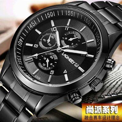 正品防水韩版时尚潮流手表男士商务休闲钢带石英学生皮带复古腕表
