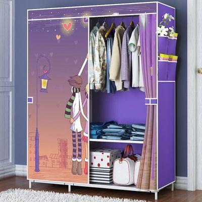 新款简易衣柜衣橱粗钢管收纳柜衣柜有拉链布衣柜衣架收纳架置物架