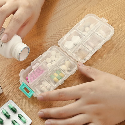 医药盒方便携带周配药盒分装小随身提醒家用迷你收纳盒子大容量