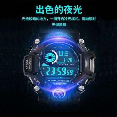 [新款]手表男学生韩版青少年运动闹钟男孩防水多功能夜光儿童电子