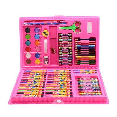 儿童水彩笔 送绘画本 绘画文具 画笔蜡笔文具画图工具 油画棒套装