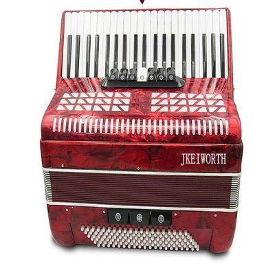 卡尔沃斯手风琴120贝司41键7变音厂家直销红色黑色 红色