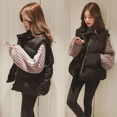 2020棉马甲女冬季短款羽绒棉马夹学生韩版宽松加厚棉背心坎肩外套