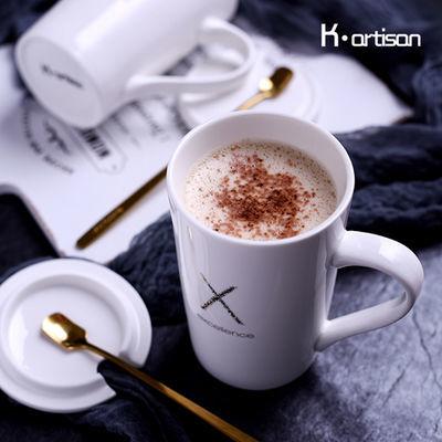 兔斯基可爱杯子陶瓷水杯带盖勺卡通马克杯子情侣喝水杯茶杯牛奶杯【3月17日发完】