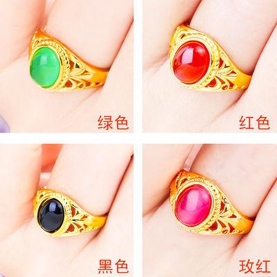 戒指韩版时尚镶嵌个性镀金女潮流不掉色指环活口可调