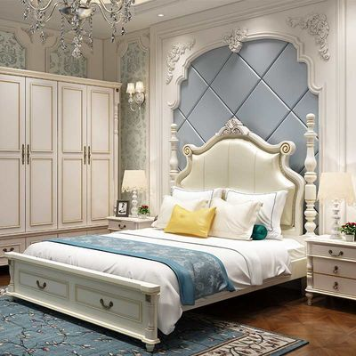 欧式床实木床1.8米双人床成人主卧家具美式公主床1.5米单人床婚床