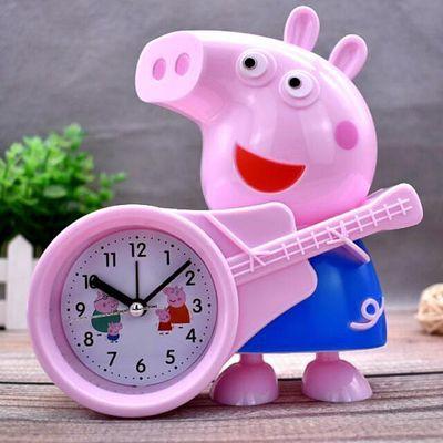 创意卡通可爱小猪佩奇闹钟儿童专用小学生用定时台钟卧室床头时钟