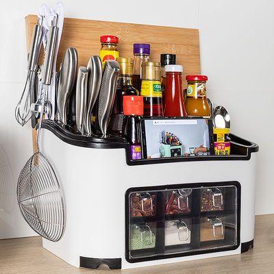 厨房调味品置物架家用调料盒厨房用品调味瓶收纳盒刀架盐罐子套装