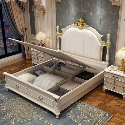 美式实木床1.8米双人床成人主卧欧式床公主床1.5米单人床储物婚床