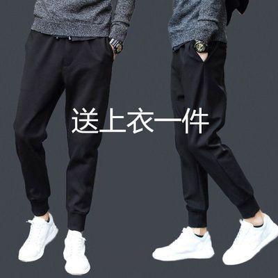 2019春季款男士休闲裤男士修身哈伦裤小脚运动裤男宽松长裤子男裤