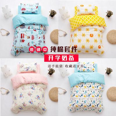 纯棉婴幼儿园儿童被子三件套被套被褥子六件套含芯可拆洗宝宝午睡
