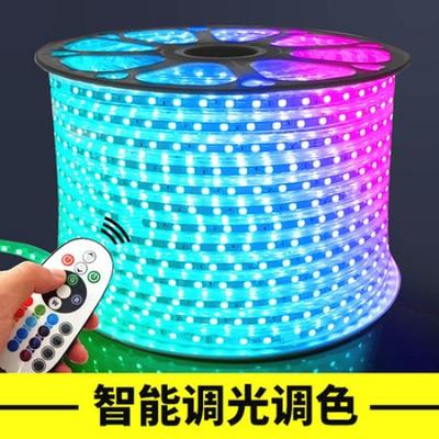 灯带led灯条高亮客厅吊顶220V户外防水光带RGB七彩变光智能跑马灯