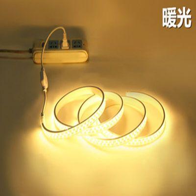 LED超亮双排灯带七彩灯带户外客厅吊顶RGB高智能调光防水灯条220v