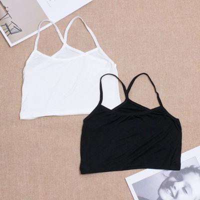 【包邮两件装】莫代尔防走光半身小吊带露脐背心女短款打底衫裹胸