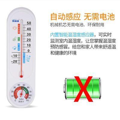 温湿表大棚温湿度表家用室内温度计长条农业养殖种植湿度计壁挂式