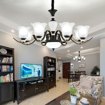 美式客厅吊灯现代卧室灯具套餐欧式灯餐厅陶瓷灯饰简欧北欧吸顶灯