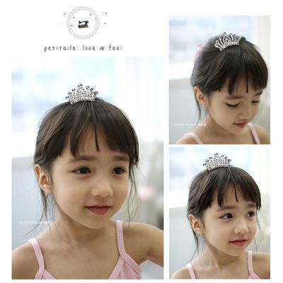 韩版儿童皇冠头饰公主水钻发箍女童头箍宝宝王冠小女孩发梳插梳