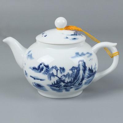 景德镇陶瓷单壶小号白瓷壶家用青花瓷大号茶壶高白瓷泡荼壶
