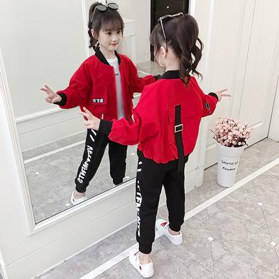 女童春装套装2020新款韩版儿童装洋气运动中大童春秋网红两三件套