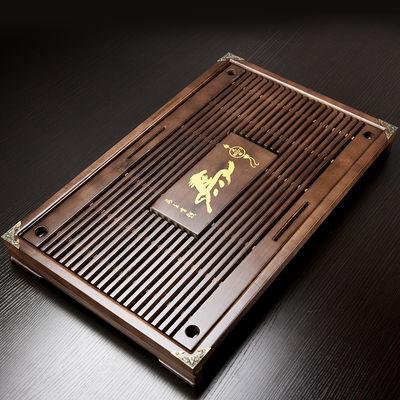实木茶盘储水排水托盘竹制陶瓷功夫茶具套装家用办公茶海茶托茶台