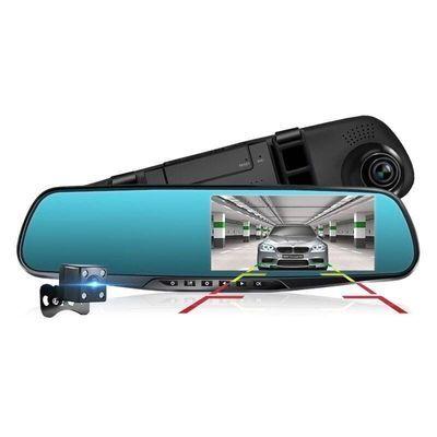 汽车行车记录仪前后双镜头高清夜视全景倒车影像电子狗测速一体