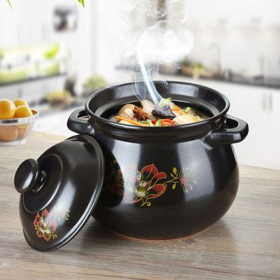 砂锅耐高温养生汤煲陶瓷沙锅煲汤锅炖锅煮粥沙煲节能家用燃气汤锅