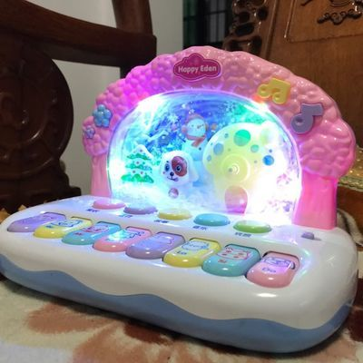 冰雪音乐琴0-1-3婴儿童玩具6-12个月男女孩宝宝益智早教2-4电子琴