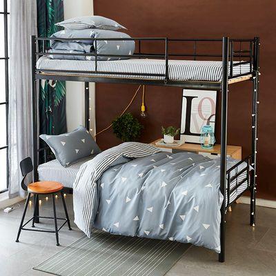 宿舍三件套被套床单枕套0.9米学生被褥套装被芯床垫枕头单人床1.2