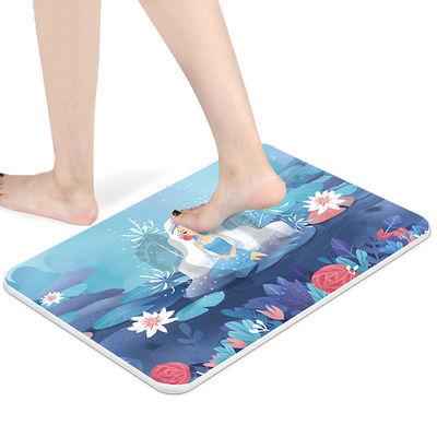 硅藻泥脚垫卫浴硅藻土卫生间家用速干浴室防滑垫门口吸水海藻地垫