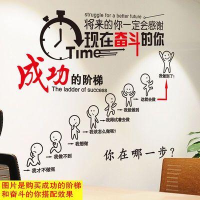励志墙贴画贴纸办公室公司教室班级文化墙布置装饰品海报墙纸自粘