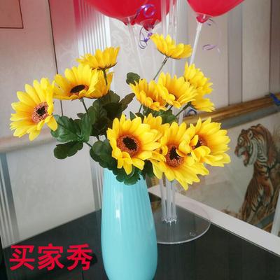 单支假花仿真塑料花假花小把束布艺装饰花插花卉绢花向日葵手捧花