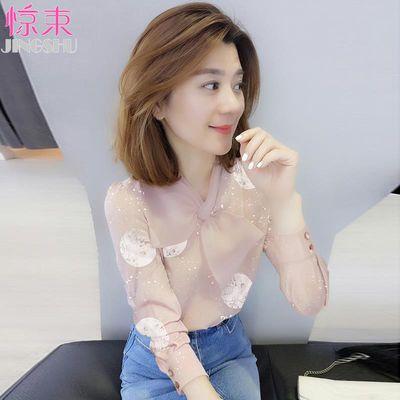 欧洲站女春装2019新款欧货潮韩版时尚设计感上衣长袖洋气网红衬衫