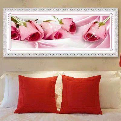 新款钻石画满钻玫瑰贴钻十字绣钻石小幅客厅卧室粘贴砖绣郁金香秀