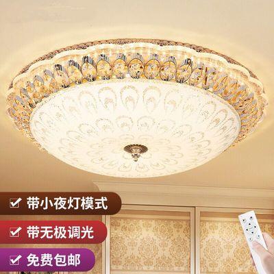 LED圆形吸顶灯卧室灯水晶灯饰客厅儿童房间阳台走廊过道玄关灯具
