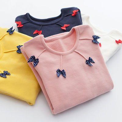 2020秋冬女童装新款打底衫中大童儿童圆领长袖T恤女孩套头衫上衣