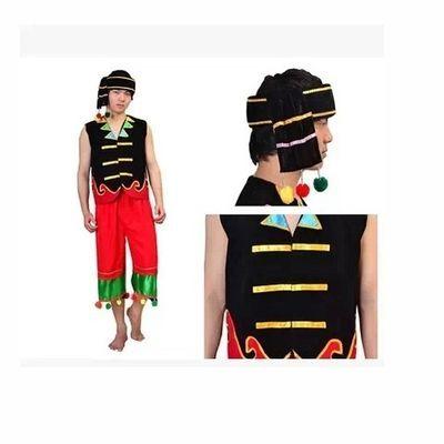 云南纳西族怒族彝族装三件套佤族男装舞蹈服表演演出服饰