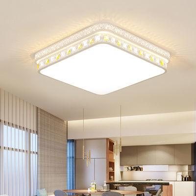 全屋灯具套餐客厅灯led吸顶灯长方形圆形卧室灯饰创意组合水晶灯