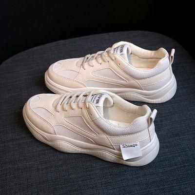 春夏季小白鞋女厚底老爹鞋韩版学生运动女鞋跑步休闲健身透气女鞋主图