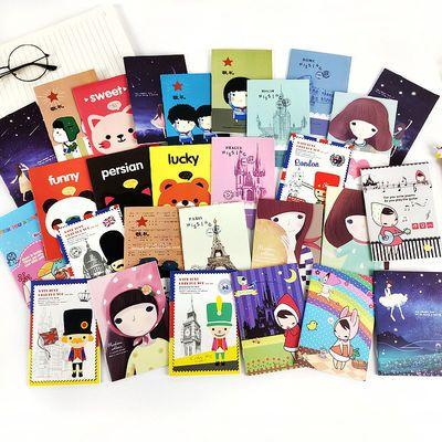 可爱便携小本子日记本奖品学生学习文具卡通迷你口袋本随身记事本