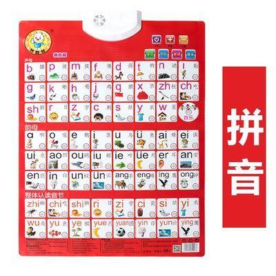 汉语拼音字母表声母韵母整体认读音节语音发声有声挂图画小学卡片
