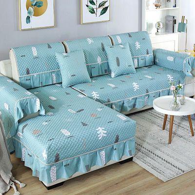 新款纯色棉沙发垫布艺四季通用简约欧式现代沙发套全包防滑沙发罩