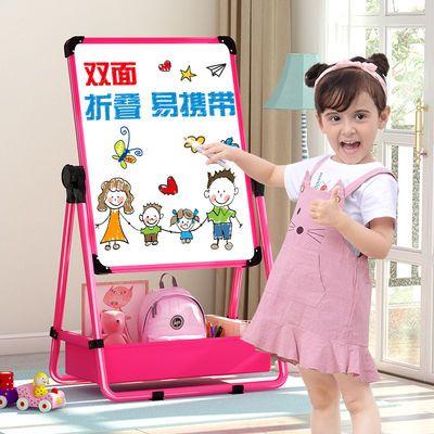 儿童画板画架可升降双面磁性小黑板升降支架式宝宝家用画画套装