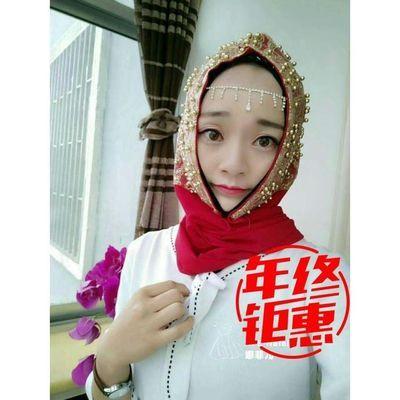2020春夏季新款娜菲马来钉珠长巾穆斯林头巾时尚纱巾休闲长巾回族