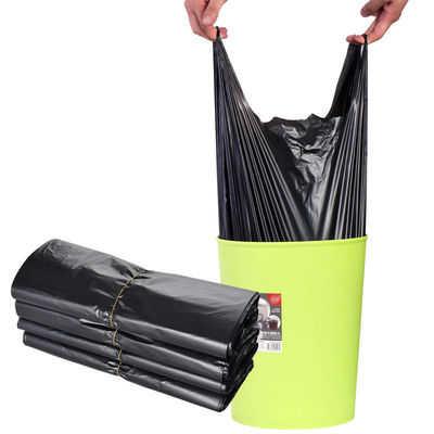 手提式垃圾袋家用加厚办公室厨房一次性大号背心式黑色塑料垃圾袋