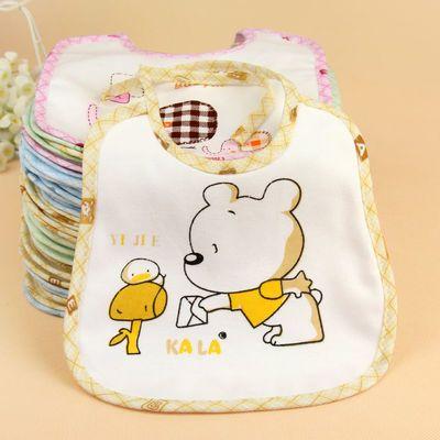 【10条装】宝宝防水口水兜纯棉婴儿围兜新生儿口水巾系带围嘴饭兜