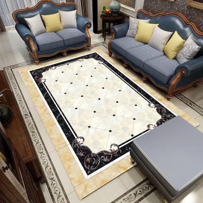 中欧式客厅地毯沙发茶几垫大理石纹卧室床边毯家用满铺长方形地垫