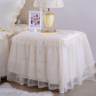 夹棉全包床头柜罩套加厚防尘罩卧室欧式万能盖布盖巾实木床头桌布